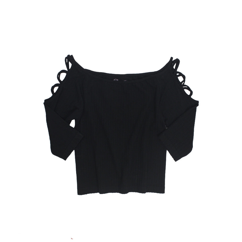 3/4 Crop Criss Cross Sleeve Top