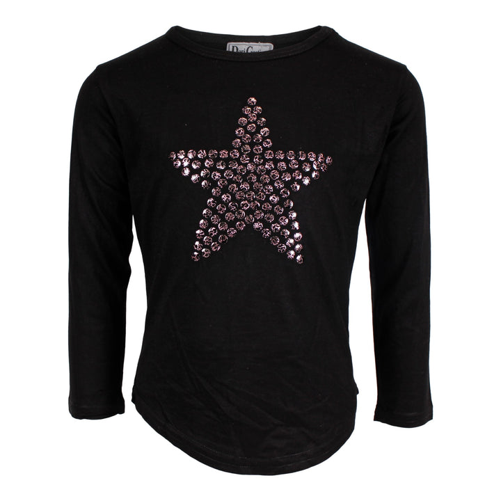 Long Sleeve Scoop Top with Star