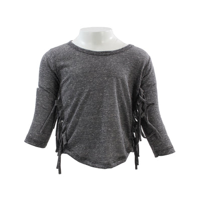 Long Sleeve Fringe Tee