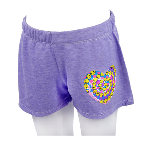 Short with Heart Swirl Emojis