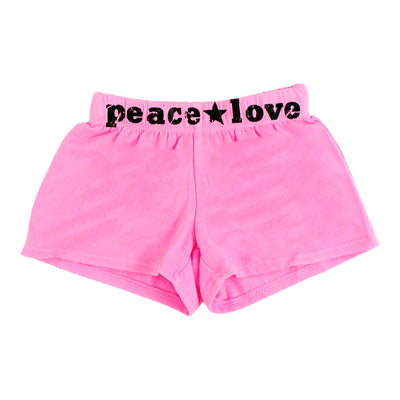 Short with Peace Star Love