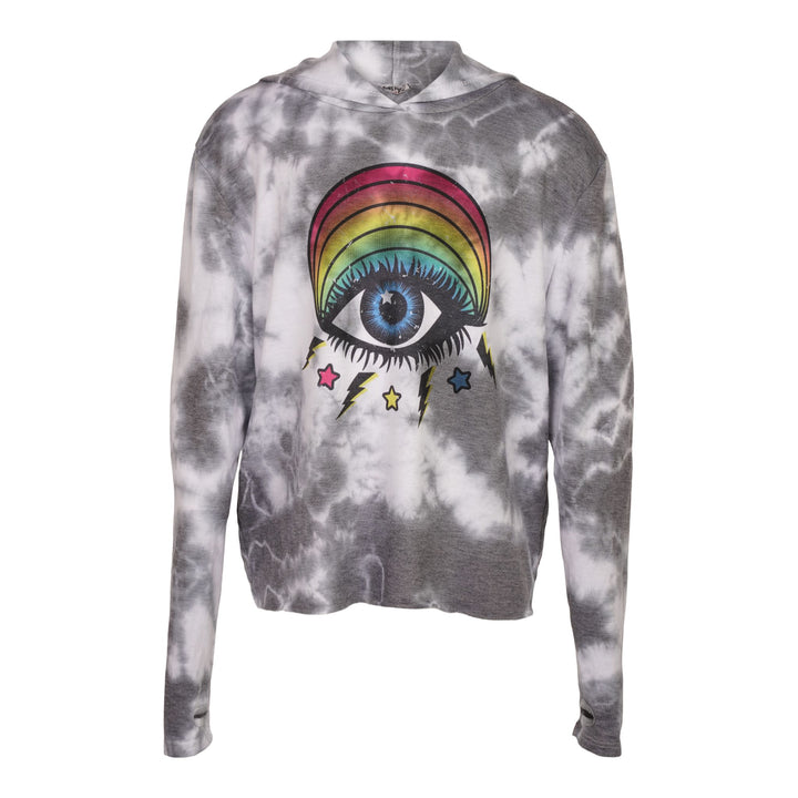 Cloud Tie Dye Rainbow Eye Hoodie
