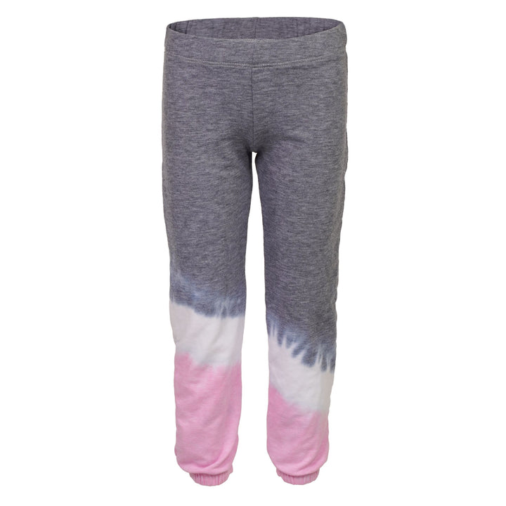 Diagnol Tie Dye Pink, White & Grey Push Up Pant