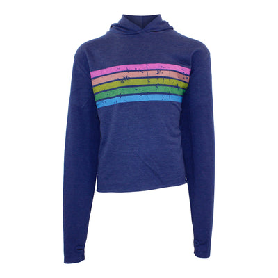 Crop Hoody with Neon Stripes