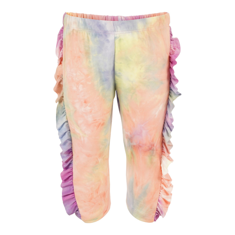 Tie Dye Sweatpant with Ruffle