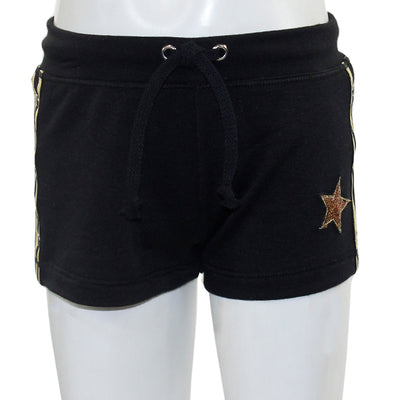 Short with Gold Snap Down Side and Gold Star