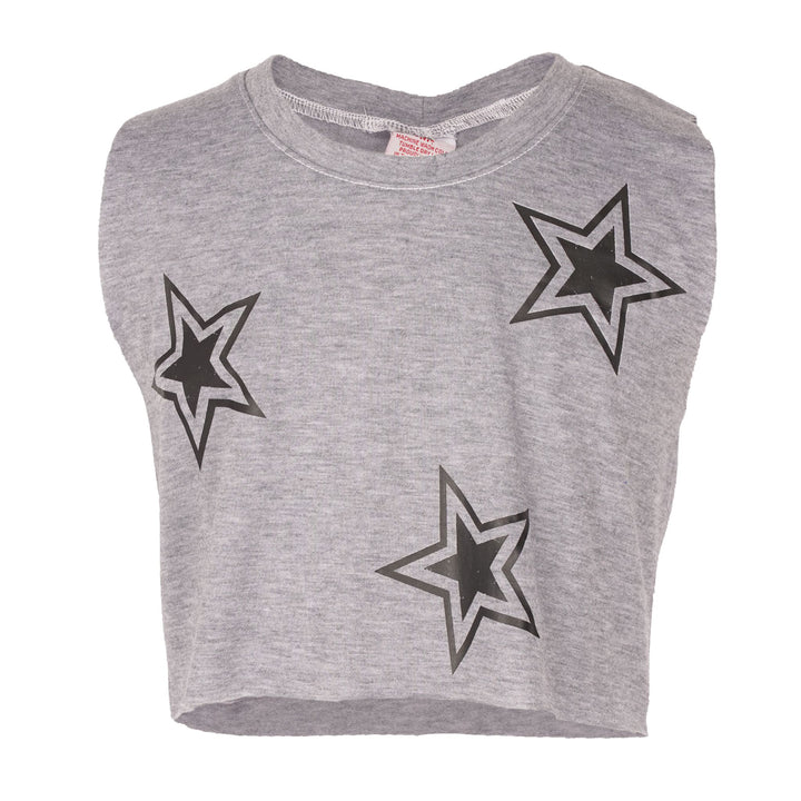CROP TANK WITH STARS