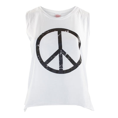 Black Peace Sign Muscle Tee