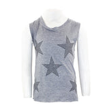 Muscle Tank with Black Stars