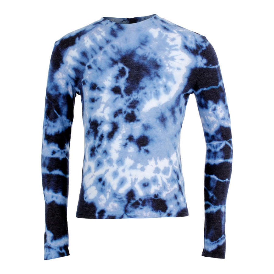 Long Sleeve Tie Dye Crop Tee