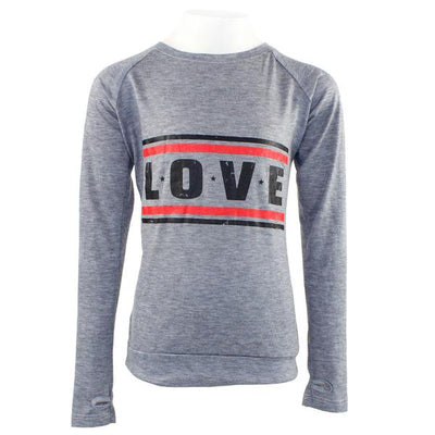 Long Sleeve Love Thumbole Crew