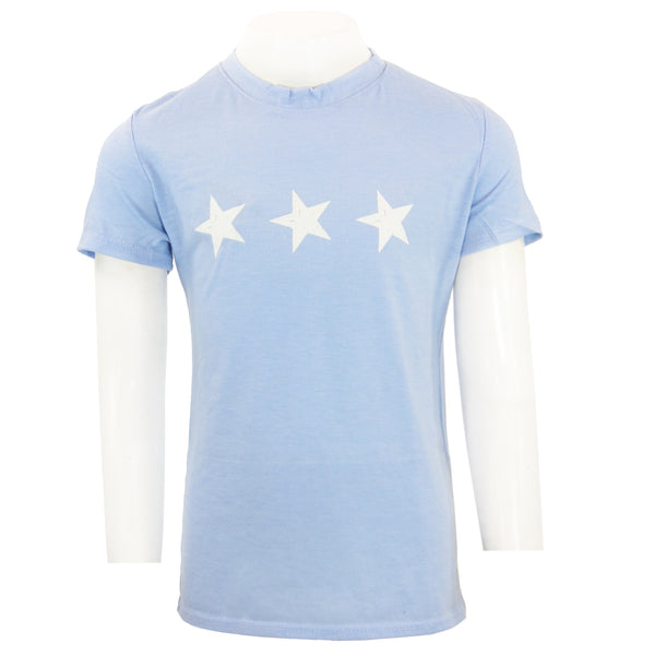 Short Sleeve Tee with 3 Stars Rainbow Foil