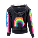 Zip Sweatshirt with Chasing Rainbows