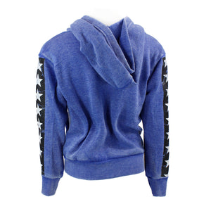 Zip Sweatshirt with Stars and Stripes