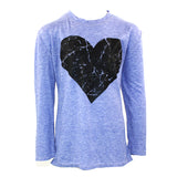 3/4 Sleeve Top with Black Heart