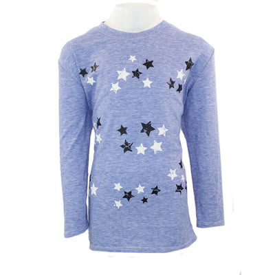 3/4 Sleeve Top with Black & White Stars