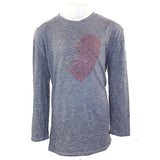 3/4 Sleeve Top with Heart