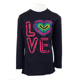 3/4 Sleeve Top with Neon Love