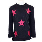 3/4 Sleeve Top with Neon Stars