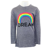 3/4 Sleeve Top with Rainbow Dream