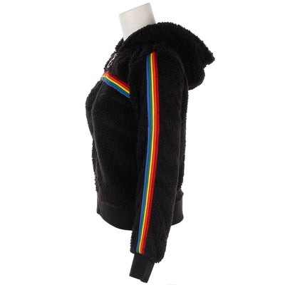 Rainbow Stripe Sherpa