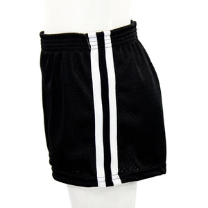 Black Short With White And Black Stripe