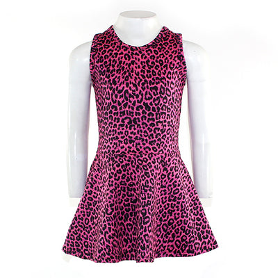 All Over Tank Leopard Flounce Dress