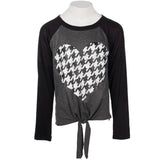 Black Raglan Heart