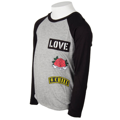 Baseball Tee with Patches