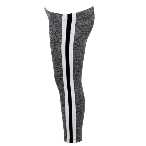 Black & White Athletic Stripe Legging