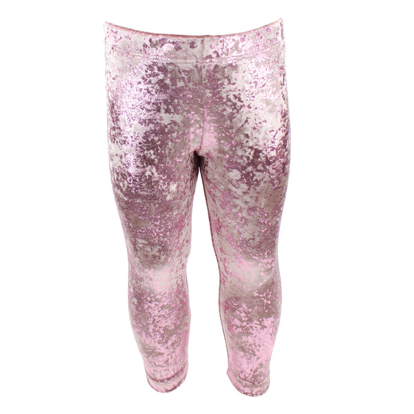 Crushed Velvet Pink Legging