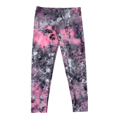 Black/Grey/Pink Tye Dye Lame Legging
