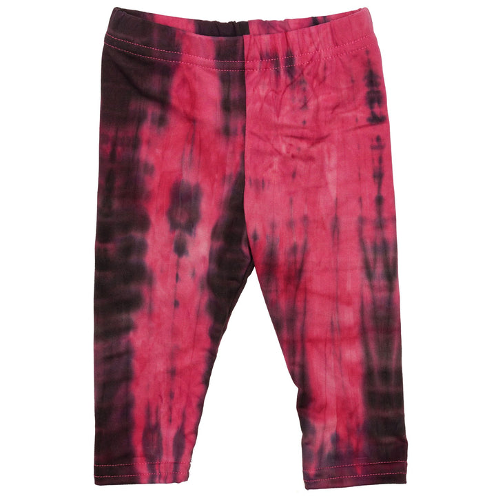 Pink & Black Tie Dye Brushed Legging