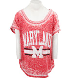 Burn Out Cap Sleeve with Maryland