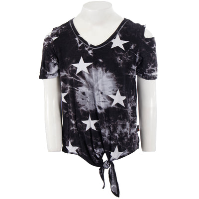 Tye Dye Cold Shoulder with Star Print