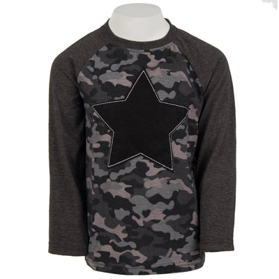 Star Patch Camo Raglan