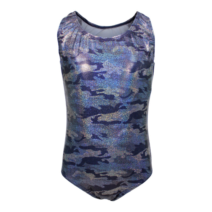 1pc Navy Camo Lame Swimsuit