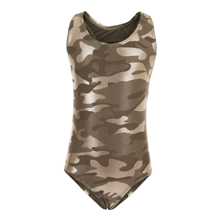 1pc Camo Swimsuit