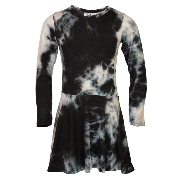 Allover Tie Dye Long Sleeve Dress