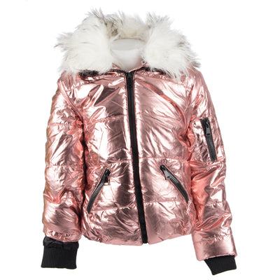 Puffer Jacket with Creme Fur