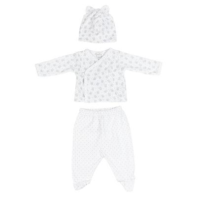 3pc Set Grey Bear and Hat
