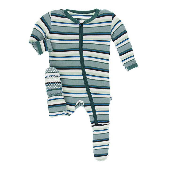 Footie Multi Agriculture Stripe