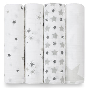 Four Pack Swaddle Twinkle