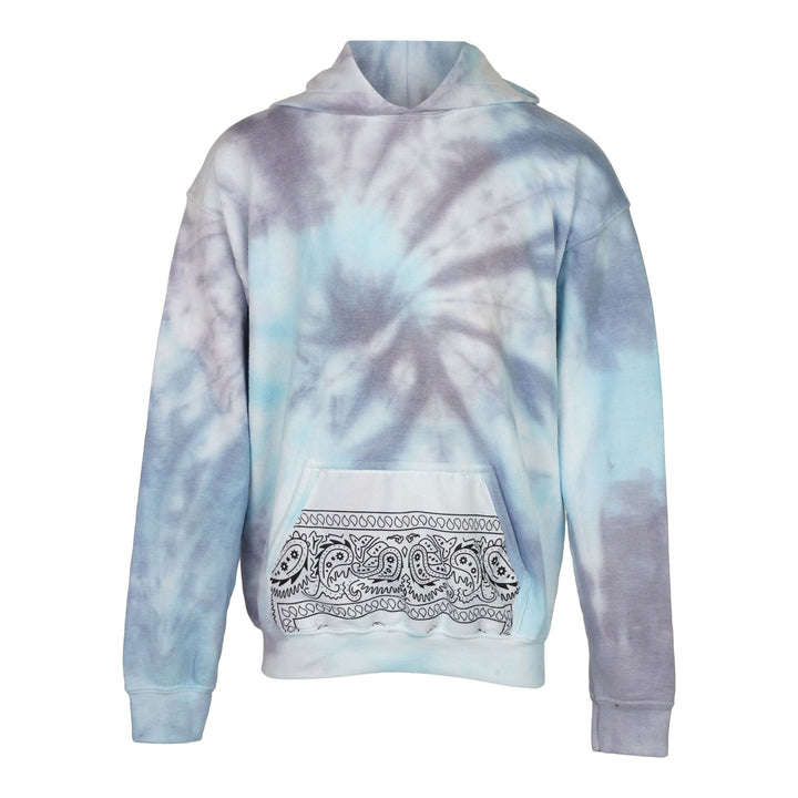 Tie Dye Hoodie With Bandana Pocket