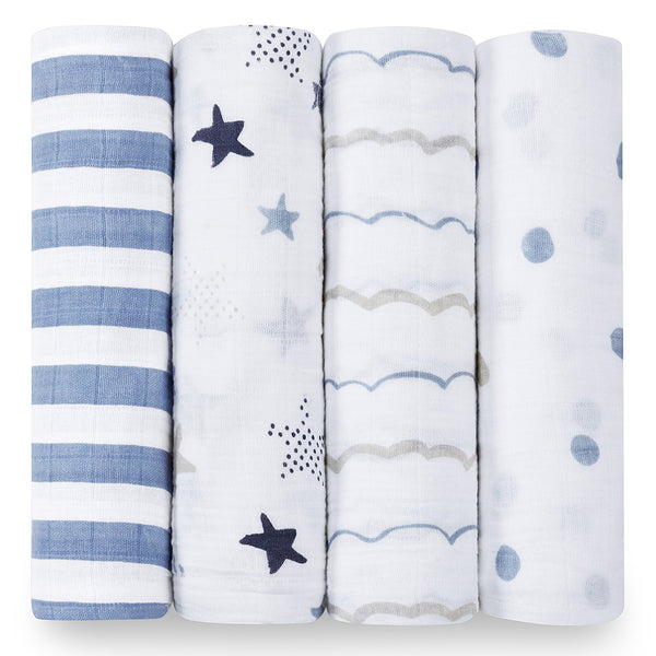 Four Pack Swaddle Rock Star