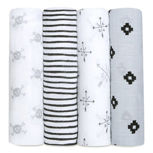 Four Pack Swaddle Love Struck