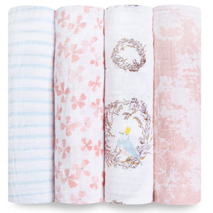 Four Pack Swaddle Birdsong