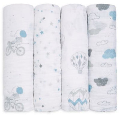 Four Pack Swaddle Night Sky Reverie