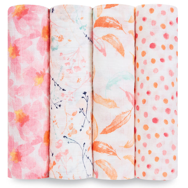 Four Pack Swaddle Petal Blooms