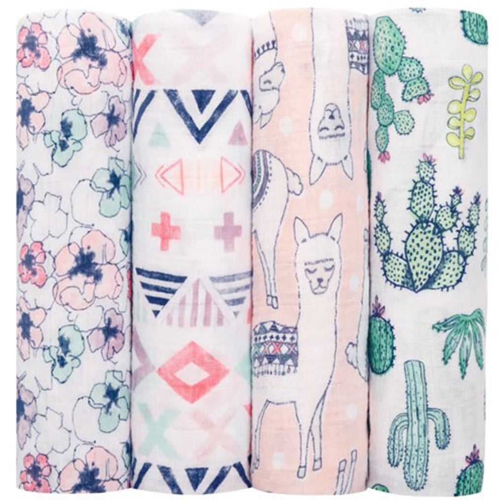 Four Pack Swaddle Trail Blooms